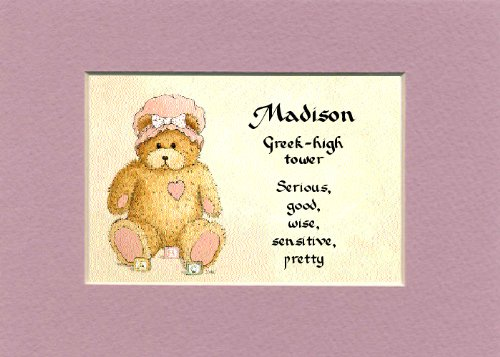 Personalized Baby Name Madison Nursery Wall Decor Keepsake Gift Made In The Usa