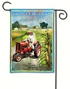 America's Heartland Garden Flag Tractor Farm Scene Corn 12.5x18