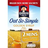 Quaker Oat So Simple Golden Syrup 15 x 36g GROSSPACKUNG - Vollkorn Haferflocken mit Golden Syrup