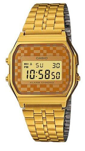 Casio #A159WGEA-9A Men's Vintage Gold Tone Chrongoraph Alarm LCD Digital Watch 0