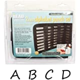 Beadsmith 27-Piece Uppercase Handwritten A-Z Alphabet Letters Punch Set for Metal, 2mm