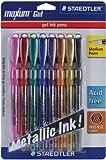 Staedtler Maxum Metallic Gel Pen, 8/Pkg: Colors