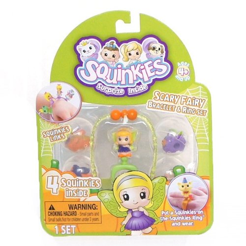Squinkies Surprize Inisde Scary Fairy Bracelet and Ring Set - 1
