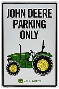 John Deere Metal Sign Tractor Park Only Home