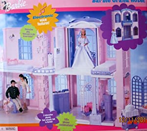 Barbie GRAND HOTEL Playset w INTERACTIVE PHONE 100+ Phrases, 5 Deluxe Rooms & More (2001)
