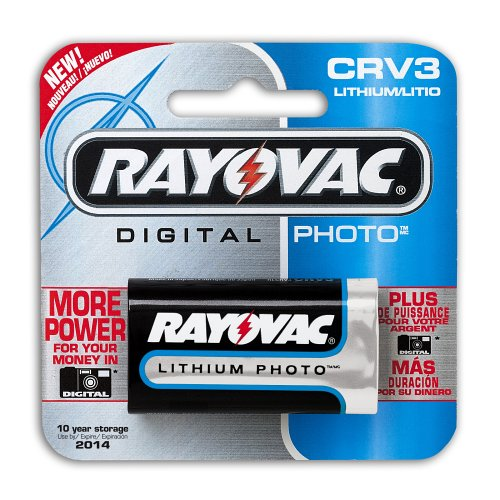 Rayovac  Lithium Digital Photo Battery CRV3 Size,  3.0-volt (Pack of 3)