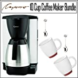 Capresso MT600 Programmable 10-cup Coffee Maker With Milled Steel Body And  ....