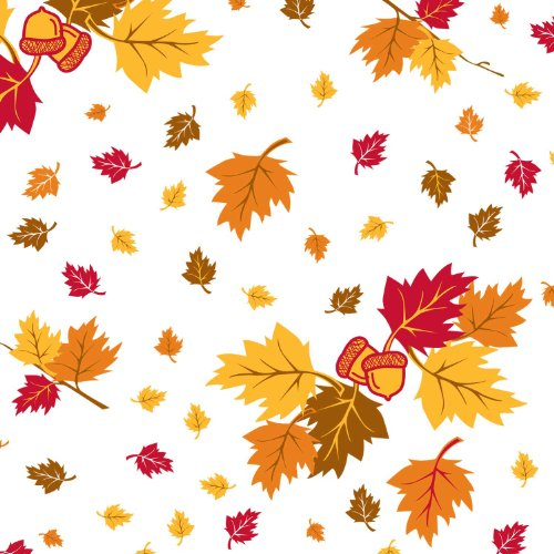 "Party Essentials ValuMost Printed Plastic Table Cover, 54 x 108"", Autumn Leaves"