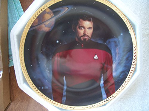 Star Trek COMMANDER WILLIAM T. RIKER The Next Generation 5th Anniversary Commemorative Collector's Plate - with COA (mc)