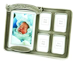 Stephan Baby Keepsake Baby's Firsts Pewter Frame