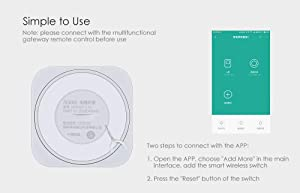 Aqara Smart Wireless Multifunction Switch Application Control Button Works with Apple HomeKit When Used with Aqara Hub Gateway