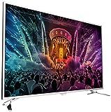 Philips 55PUS6501/12 139,7 cm (55 Zoll) Ultraflacher Android 4K-Fernseher mit 2-seitigem Ambilight und PixelPrecise Ultra HD hellsilber