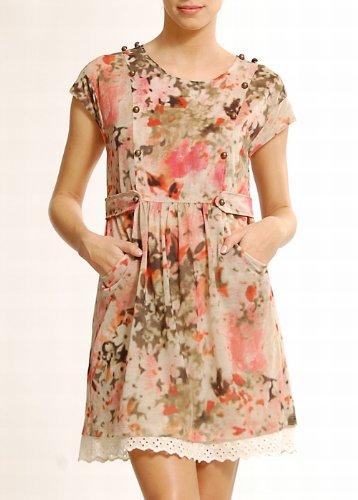 Feminine Printed Dresses Low Prices Mango Women 39 S Romantic Style Military Dress