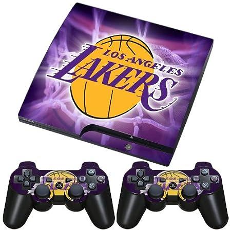 Meestick Los Angeles Lakers Vinyl Adhesive Decal Skin for Playstation 3 Slim