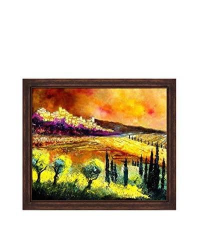 "Pol Ledent ""Tuscany 68"" Framed Canvas Print"
