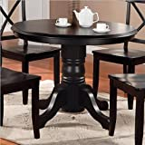 Pedestal Dining Table in Black Finish