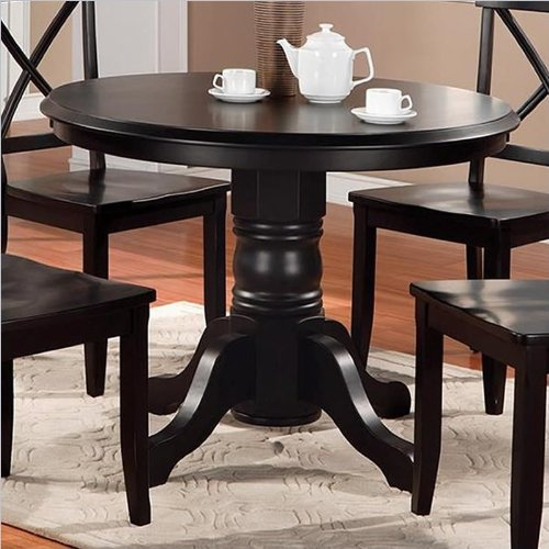 Elegant Home Styles Furniture Wood Casual Pedestal Dining Table in Black Finish