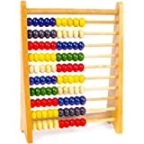 Wooden Bead Abacus Counting Number Maths Educational Kids Educational Toy Bright Colour Toy