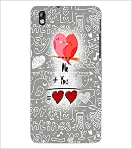 PrintDhaba Quote D-5025 Back Case Cover for HTC DESIRE 816 (Multi-Coloured)