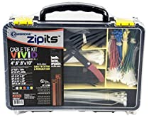 Cambridge Zipits 700 pc Cable Tie Kit Assortment. BONUS includes Cutting Tool & Reusable Storage Case