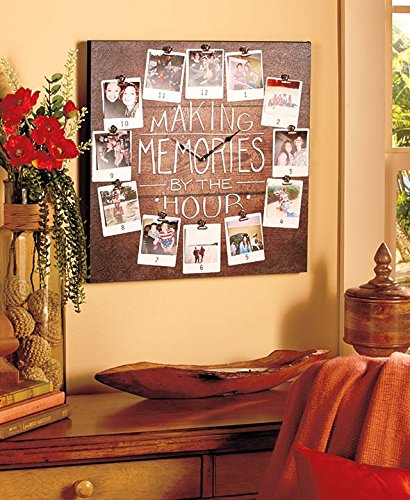 Making Memories Photo Picture Wall Clock Plaque Decor (Clock Frame compare prices)
