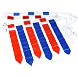 WYZworks 36 Flags & 12 Belts - Velcro Flag Football Set - 18 Red Flags & 18 Blue Flags