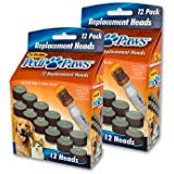 2 Pack PediPaws Replacement Filing Heads 12 Replacement Heads- As Seen on TV.