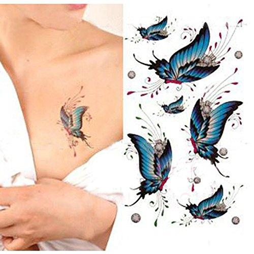 generique-1-pc-tatouage-temporaire-corps-sticker-impermeable-papillons-bleus