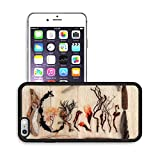 MSD Premium Apple iPhone 6 Plus iPhone 6S Plus Aluminum Backplate Bumper Snap Case Driftwood and seaweed abstract design over old oak background IMAGE 26523890
