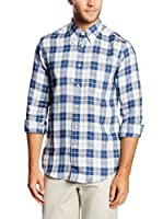 Brooks Brothers Camisa Hombre (Azul / Blanco)