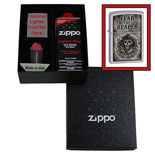 """Sons Of Anarchy"" Fear The Reaper Zippo Lighter Gift Set"