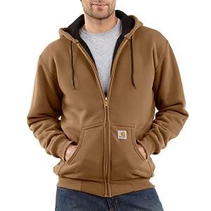 Carhartt Men's Thermal Lined Hooded Zip Front Sweatshirt 149, Carhartt Brown, Medium