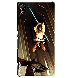 Omnam Marshal Arts Fighting Printed Designer Back Cover Case For Sony Xperia Z3