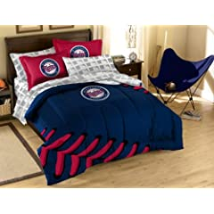 MLB Minnesota Twins Full Bed in a Bag with Applique Comforter by Northwest