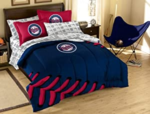 Buy MLB Minnesota Twins Full Bed in a Bag with Applique Comforter by Northwest