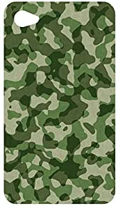 Military Camouflage Fabric Back Cover Case for Apple iPod Touch 4