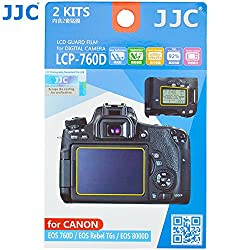 JJC LCP-760D 2 Kits Guard Film Digital Camera LCD Display Screen Protector Cover For Canon EOS 760D Rebel T6s 8000D Camera
