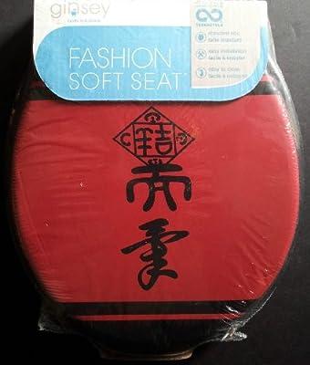 Phenomenal Top Ginsey Asian Garden Red Black Standard Round Cushion Machost Co Dining Chair Design Ideas Machostcouk
