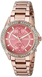 Citizen Women's FD3003-58X Eco-Drive Analog Display Japanese Quartz Rose Gold-Tone Watch