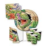 Dino Blast Dinosaur Jungle Party Tableware Pack for 16