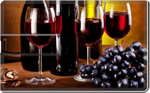 Glasses Of Red Wine Grapes Bunches 4G Usb Flash Drive 2.0 Memory Stick Luxlady Usb Credit Card Size Customized Support Services Ready Windows Mac Storage External front-185217