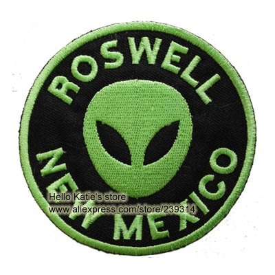 [FairyMotion Green Alien Movie Logo Clothes Facric Patch Of Stickers Roswell New Mexico Children Diy Embroidered Iron On Patch Accessories Perfect] (Child Star Wars Costume Australia)