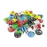 Lot de 100 bagues joncs couleurs, tailles et motifs mélangés