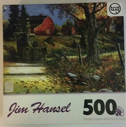Jim Hansel 500 Piece Sure-lox Puzzle Country Roads