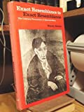 Exact Resemblance to Exact Resemblance: Literary Portraiture of Gertrude Stein (Yale studies in English) (0300021658) by Steiner, Wendy