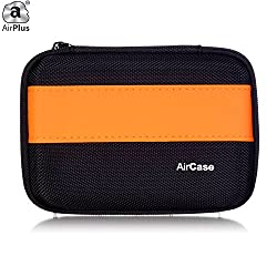 AirPlus AirCase Premium HDD Hard Disk Case Cover For External Hard Disk 2.5 Inch [ORANGE-BLACK]