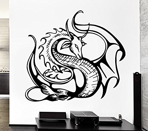 GGWW Wall Decal Cool Decor Dragon Movie Fantasy Monster Cool Decor (Z2691)