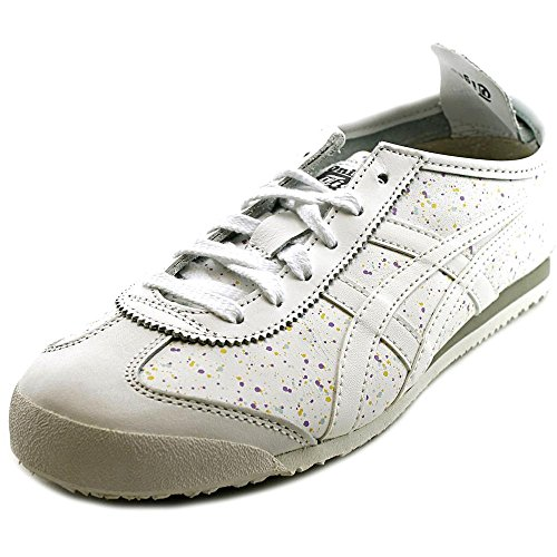 Onitsuka Tiger Women's Mexico 66 Classic Running Shoe, White/White, 7.5 M US