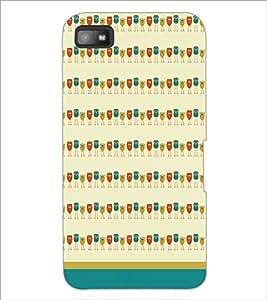 PrintDhaba Owl Pattern D-1702 Back Case Cover for BLACKBERRY Z10 (Multi-Coloured)