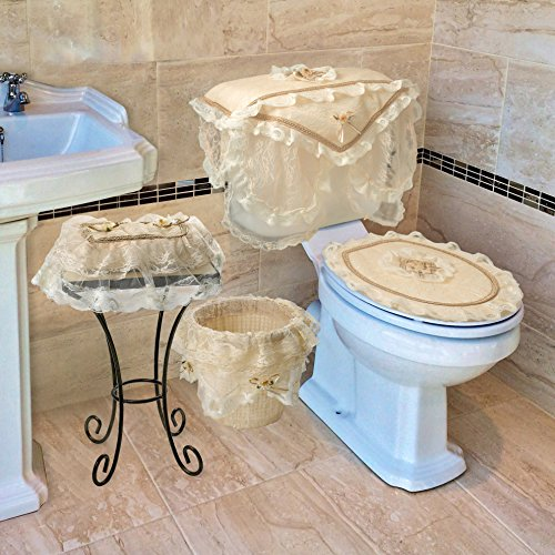Luxurious and elegant eden lace style bathroom waste for Gold bathroom bin